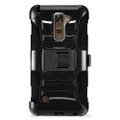 Holster Hybrid Combo Armor With Swivel Kick Stand Black Cover Case For LG Stylo 2 Plus /MS550 Cellphone