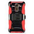 Holster Hybrid Combo Armor With Swivel Kick Stand Red/Black Cover Case For LG Stylo 2 Plus /MS550 Cellphone