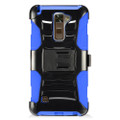 Holster Hybrid Combo Armor With Swivel Kick Stand Blue/Black Cover Case For LG Stylo 2 Plus /MS550 Cellphone