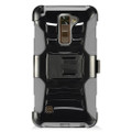 Holster Hybrid Combo Armor With Swivel Kick Stand Grey/Black Cover Case For LG Stylo 2 Plus /MS550 Cellphone