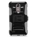 Holster Hybrid Combo Armor With Swivel Kick Stand Grey/Black Cover Case For LG Stylo 3 Cellphone