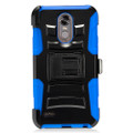 Holster Hybrid Combo Armor With Swivel Kick Stand Blue /Black Cover Case For LG Stylo 3 Cellphone