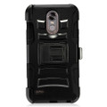 Holster Hybrid Combo Armor With Swivel Kick Stand Black Cover Case For LG Stylo 3 Cellphone