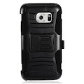 Holster Hybrid Combo Armor With Swivel Kick Stand  Black Cover Case For Samsung Galaxy S7 Active/G891 Cellphone