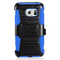 Holster Hybrid Combo Armor With Swivel Kick Stand  Blue/Black Cover Case For Samsung Galaxy S7 Active/G891 Cellphone