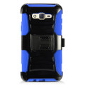 Holster Hybrid Combo Armor With Swivel Kick Stand  Blue/Black Cover Case For Samsung Galaxy J7 (2015) /J700 (Boost Mobile) Cellphone