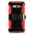 Holster Hybrid Combo Armor With Swivel Kick Stand  Red/Black Cover Case For Samsung Galaxy J7 (2015) /J700 (Boost Mobile) Cellphone