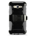 Holster Hybrid Combo Armor With Swivel Kick Stand  Grey/Black Cover Case For Samsung Galaxy J7 (2015) /J700 (Boost Mobile) Cellphone