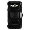 Holster Hybrid Combo Armor With Swivel Kick Stand  Black Cover Case For Samsung Galaxy J7 (2015) /J700 (Boost Mobile) Cellphone