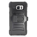 Holster Hybrid Combo Armor With Swivel Kick Stand  Black Cover Case For Samsung Galaxy Note 5 (AT&T/Verizon/Sprint) Cellphone