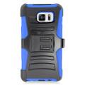 Holster Hybrid Combo Armor With Swivel Kick Stand  Blue/Black Cover Case For Samsung Galaxy Note 5 (AT&T/Verizon/Sprint) Cellphone