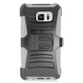 Holster Hybrid Combo Armor With Swivel Kick Stand  Grey/Black Cover Case For Samsung Galaxy Note 5 (AT&T/Verizon/Sprint) Cellphone