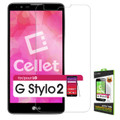 Tempered Glass [Cellet] Premium  (0.3mm) Screen Protector Guard For LG Stylo 2 Plus /MS550 (MetroPCS/ T-Mobile) Cellphone