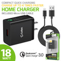 Wall Charger Cellet 18 Watt USB  with Qualcomm Certified Quick Charge 3.0 Technology (3.3 ft. Micro USB Cable For LG /Samsung /Motorola/ Zte/ Cellphones
