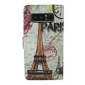 Wallet Fold PU Leather Pouch [Flower Tower]  For Samsung Galaxy Note 8 /N950  Cellphone