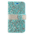 Wallet Fold Diamond [ Lite Blue ] PU Leather Cover Case For Samsung Galaxy J3 Emerge/ J3 Prime/Eclipse/ Mission/ Amp Prime 2/ Express Prime 2 (2017) J327 Cellphone
