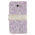 Wallet Fold Diamond [ Pink ] PU Leather Cover Case For Samsung Galaxy J3 Emerge/ J3 Prime/Eclipse/ Mission/ Amp Prime 2/ Express Prime 2 (2017) J327 Cellphone