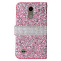 LG K20 Plus For Wallet Fold Diamond Secure Case