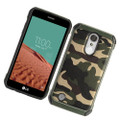 Hybrid Case Green TPU Black & Green Camouflage  For LG Aristo MS210/ K8 (2017) US215/ Fortune/ Phoenix 3/ Risio 2/ K4 (2107)/  Cellphone