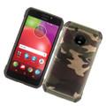 Hybrid Case Green TPU Black & Green Camouflage  For Motorola Moto E4 /XT1767  Cellphone