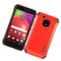 Hybrid Premium Cover Case [ Red/Black] For Motorola Moto E4 /XT1767 Cellphone