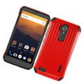Hybrid Premium Cover Case [ Red/Black] For ZTE Max XL N9560 Cellphone