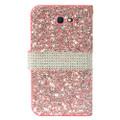 Wallet Fold Diamond Pink PU Leather Cover Case For Samsung Galaxy J7 Perx/ J7 Prime/ Halo/ J7 Sky Pro/ J7 V/ J7 (2017)
