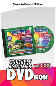 Auto-B-Good: Character Counts! Edition 1 Language Arts & Character Activity DVD-ROM