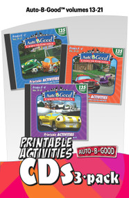 Auto-B-Good: Printable Activities 3 CD Set for Vol. 13-21