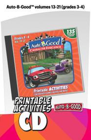 Auto-B-Good: Printable Activity CD for Vol. 13-21  (Grades 3-4)