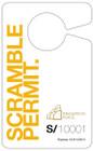 Rearview Mirror Hanging Card, Short Display