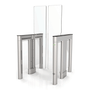 Waist High Optical Turnstile, with Clear Panels (TG-ALV-U5000S2)