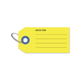 Auto Dealer Key Tags, Card Stock, with Lines