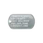 Dog Tag, Stainless Steel, Embossed