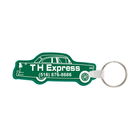 Car Shaped Rubber Key Tag, with Key Ring