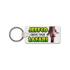 Rubber Rectangle Tag with Key Ring