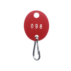 Numbered Red Oval Tags, Plastic