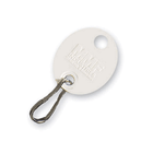 Blank White Oval Key Tag with J Hook