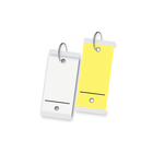 Blank, Self-Laminating Card Stock Tags - 2 Holes