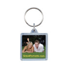 "1-1/2"" Square Acrylic Keychain, with Key Ring"