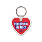 Heart Shaped Rubber Keychain, with Key Ring