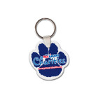 Paw Shaped Custom Rubber Key Chain