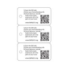 Key Tags, 3-up Packs with QR Code