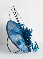 Aria Fascinator in Royal blue