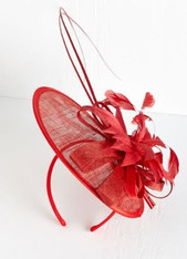 Aria Fascinator in Red