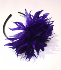 Florence Feather Flower Headband Fascinator
