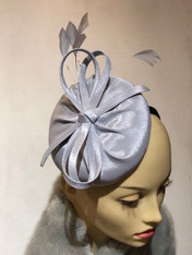 Shirley Silver Fascinator