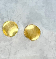 Golden Outlined Circle Earrings