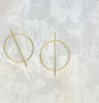 Golden Crossed Out Earrings