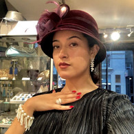 Aira Velvet Cloche Hat
